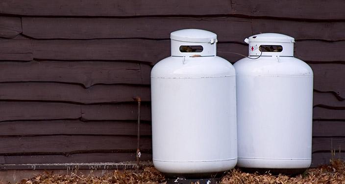 old propane tanks needing valve replacement