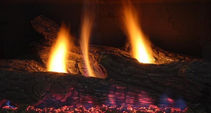 a propane fireplace